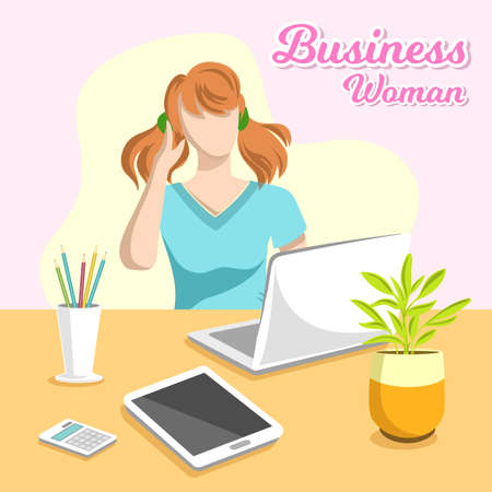 Business Woman Workspace