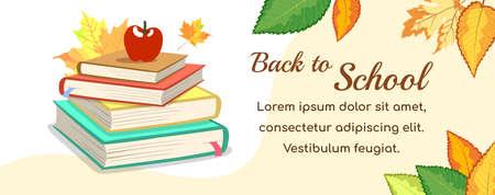 Horizontal Banner School Books