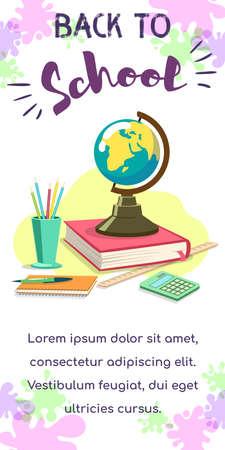 Back To School Globe Stok Fotoğraf - 131660385
