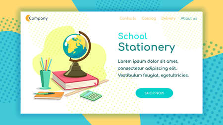 Stationery Landing Page