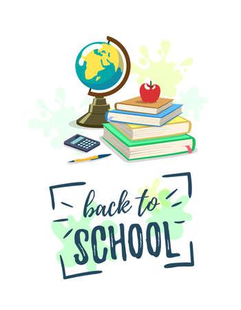 School Background Poster Çizim