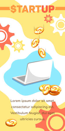 Blogging Laptop And Golden Coins