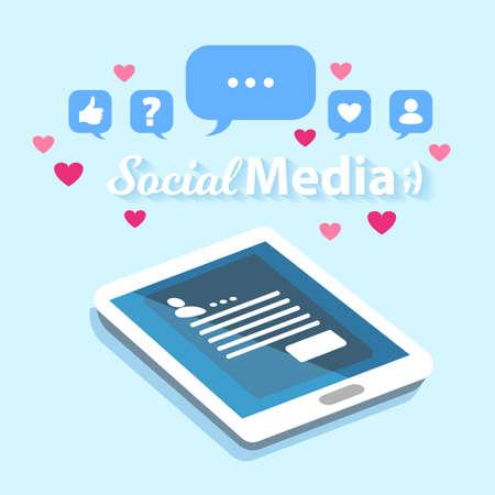 Social Media Tablet Close Up