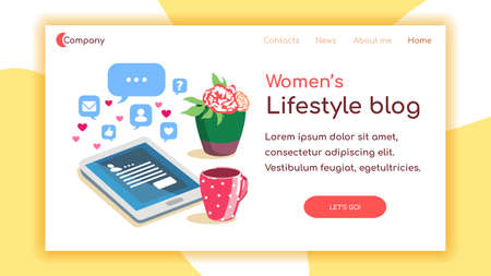 Woman Blog Landing Page Çizim