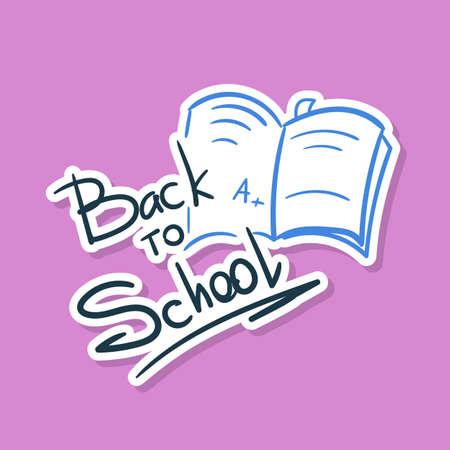 Back To School Sticker Notebook