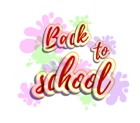 Back To School Bright Lettering