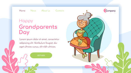 Landing Page Happy Grandparents Day