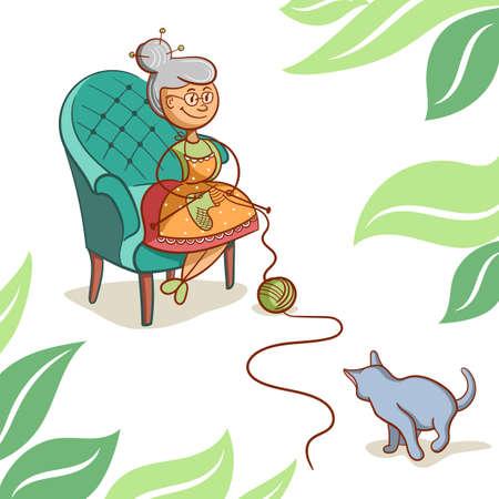 Cute Cartoon Grandma
