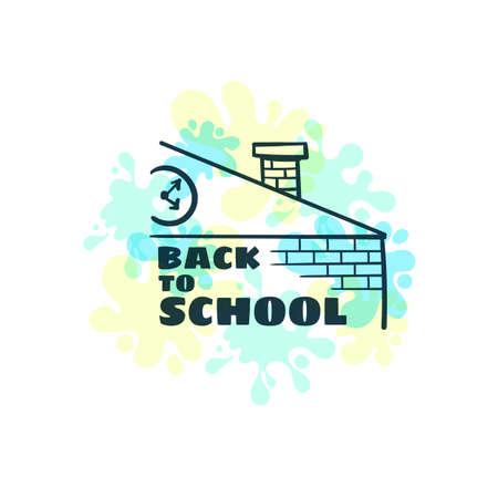 Back To School Bright Badge Çizim