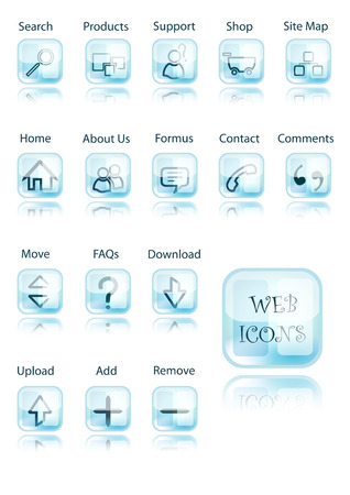 web icons made in illustrator cs4 Stock Vector - 5638086