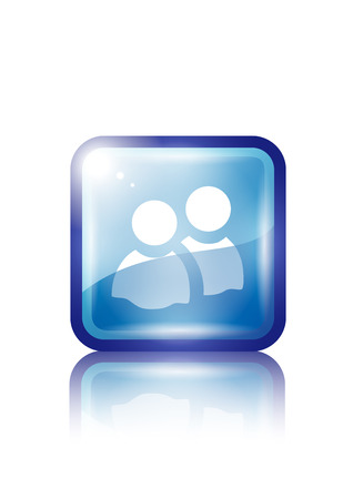 pc icon: about us web icon made in illustrator cs4 Illustration