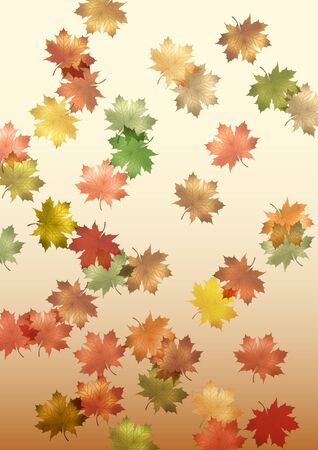 falling maple leaves made in illustrator cs4 photo
