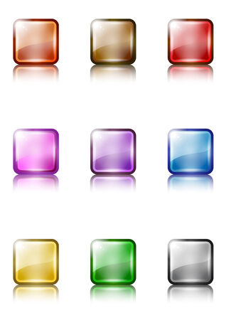 a set of colorful web button templates Stock Vector - 5799666