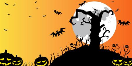 Fondo de árbol de Halloween