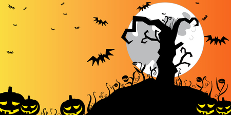 Halloween tree background Stock Vector - 5799667