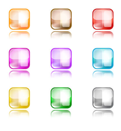 a set of colorful web button templates Vector