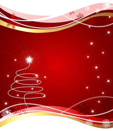 Christmas tree made in illustrator cs4 Stock Vector - 6011794