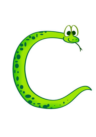snake in the form of the letter C Vector