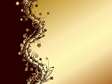 gold and black invitation card Vector