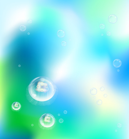 underwater jelly fish Vector