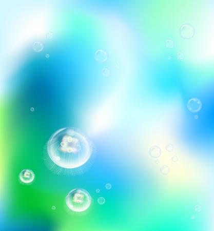 underwater jelly fish Vektoros illusztráció