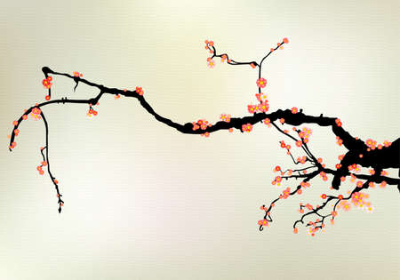 cherry tree blossom Vector