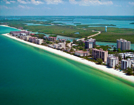 Aerial,, Bonita Beach, Florida Stock Photo