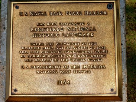 Pearl Harbor Plaque