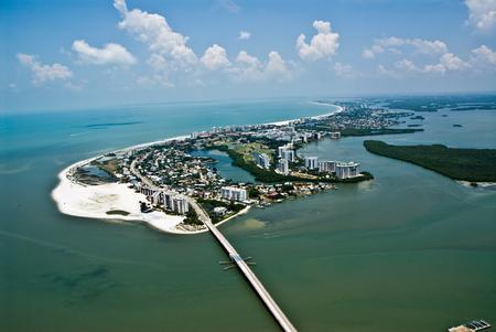 Fort Myers Florida Island Aerial Photo 版權商用圖片