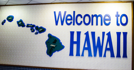 Welcome to Hawaii sign