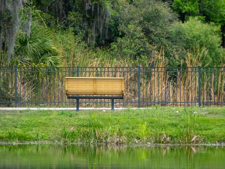 Wet Retention Pond lookout bench