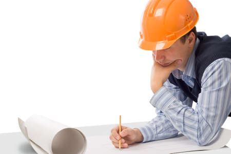 architector: engineer working with  Stock Photo