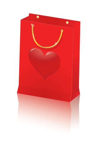 isolated paper shopping bag illustration Vector