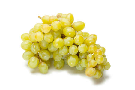 isolated green grape on white background photo