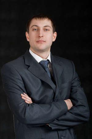 businessman portrait on dark background Stock Photo - 6357186