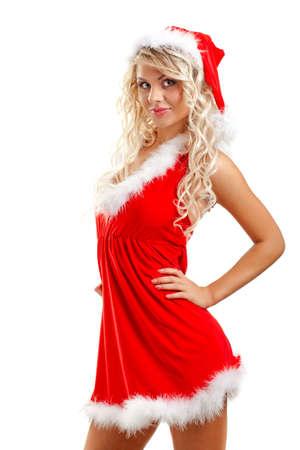 portrait of  sexy santa helper photo
