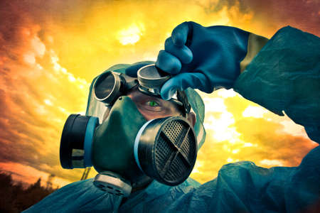 protective suit: monster under the mask under toxic skies