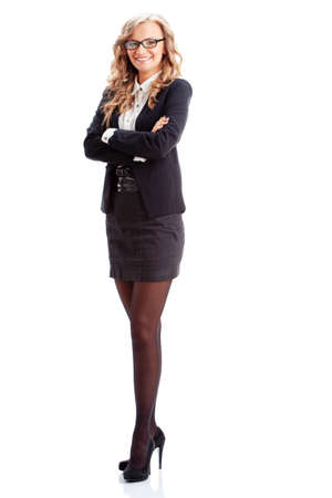 full lenght: smiling businesswoman full lenght isolated portrait
