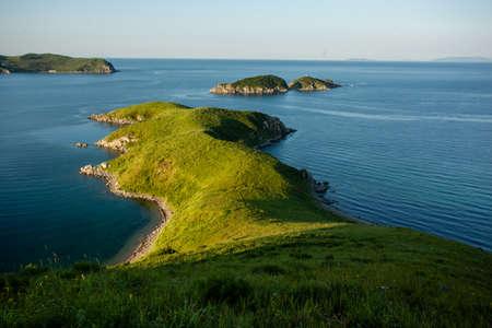 lejano oriente: pequeño cabo y las islas en el mar japonés, Extremo Oriente de Rusia