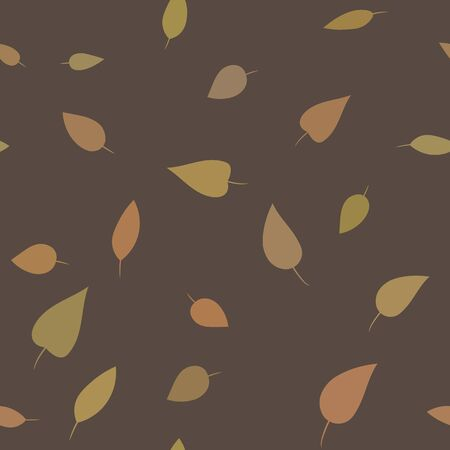 brown pattern: Seamless foliant pattern. Brown background with leaves.