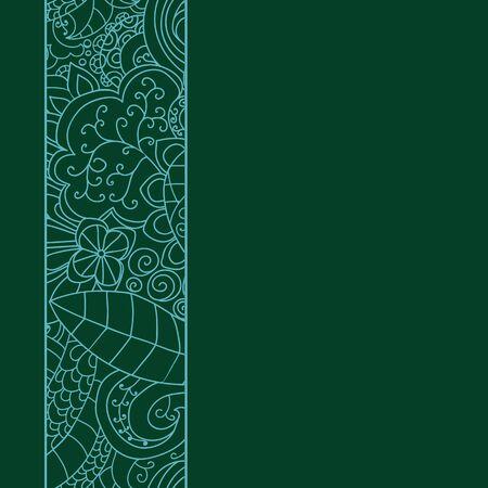 side border: Vector ornate background. Seamless floral lace side border. Illustration
