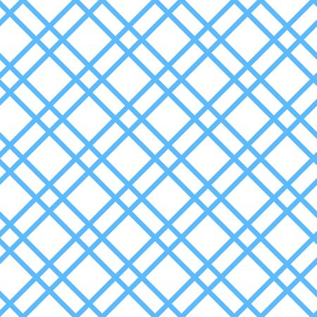 checked: Checked seamless vector pattern. White background with blue stripes. Illustration