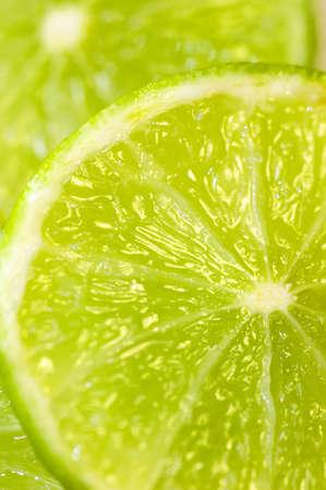 detai: Some fresh, green lime slices