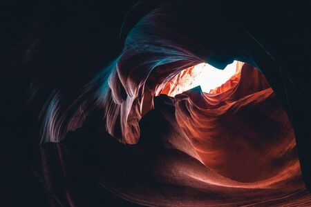 Upper Antelope Canyon, 'the place where water runs through rocks 版權商用圖片