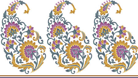 seamless unique paisley pattern
