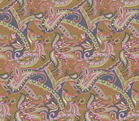 seamless paisley floral vintage pattern