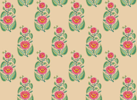 seamless Indian mughal flower motif background