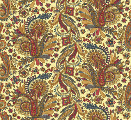 seamless traditional paisley floral background