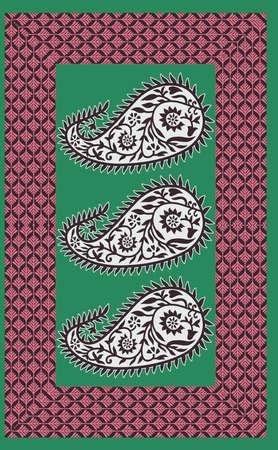 traditional textile saree design decorative checks pattern background Banque d'images