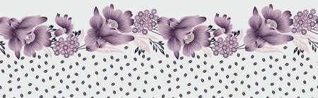 beautiful textile flower border design pattern